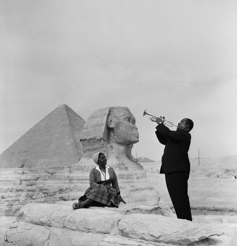 armstrong at the pyramids