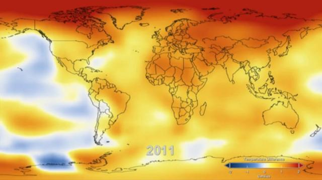 132 Years of Global Warming Visualized in 26 Dramatically ...