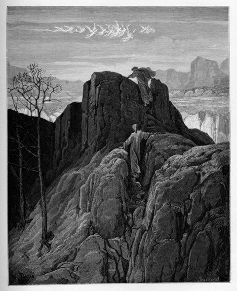 5:Gustave Dore Mount of Purgatory