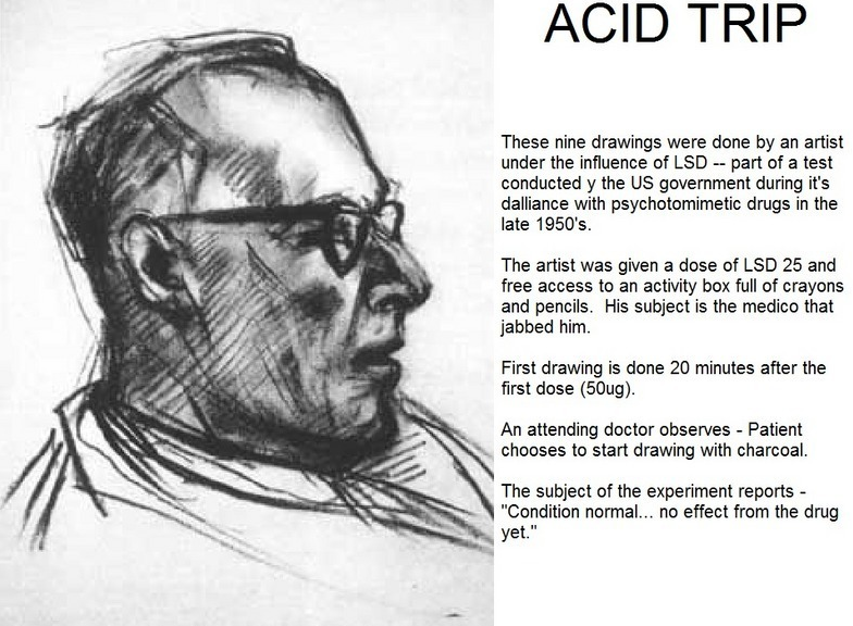 Artist Draws Nine Portraits on LSD During 1950s Research Experiment