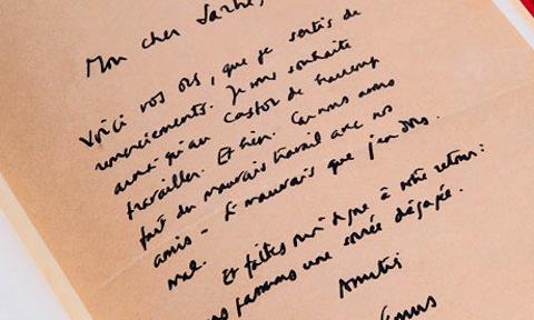 Camus letter to Sartre