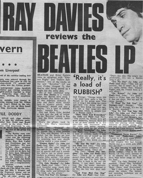 """RAY DAVIES """"SACA EL REVOLVER"""": SU DURA CRÍTICA A LOS BEATLES EN 1966"""