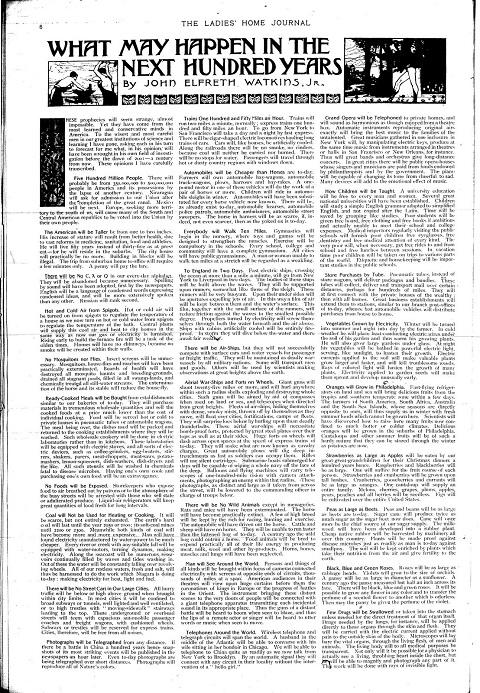 Ladies Home Journal Dec 1900 paleofuture paleo-future