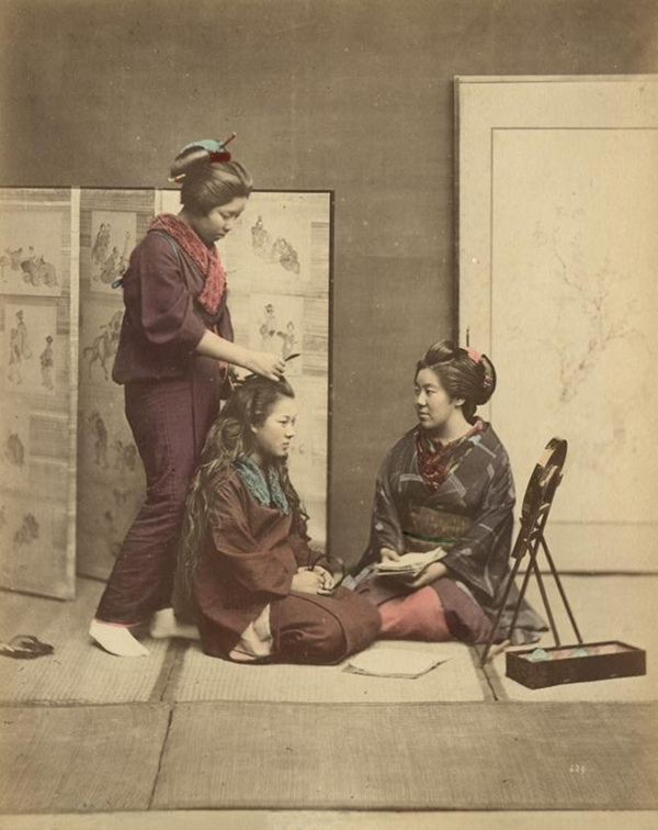 hand colored japanese photos