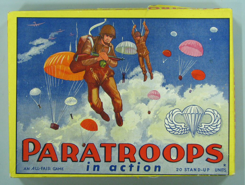 paratroops in action