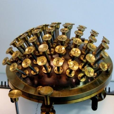 """Behold Friedrich Nietzsche's Curious Typewriter, the """"Malling-Hansen Writing Ball"""""""