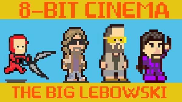 the big lebowski reimagined as a classic 8bit video game
