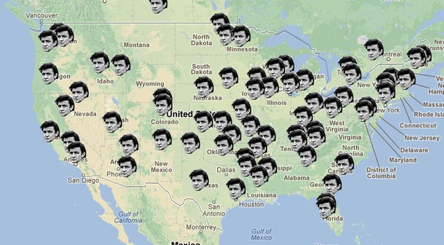 johnny cash mapped