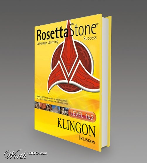 Now You Can Learn To Speak Klingon With Rosetta Stone