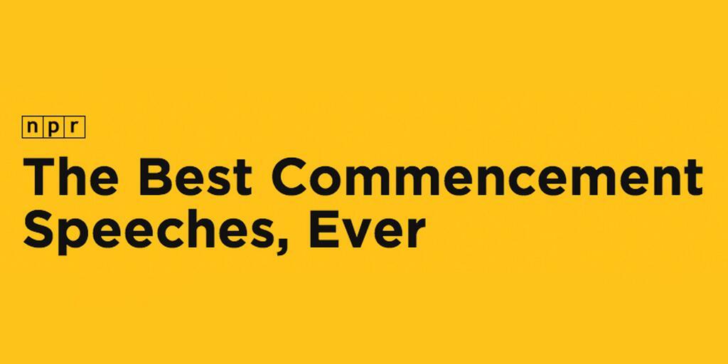best grad speeches npr