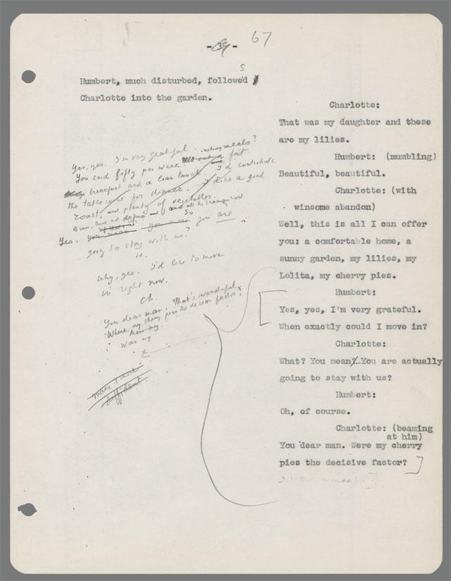 Vladimir Nabokov's Script for Stanley Kubrick's Lolita: See Pages
