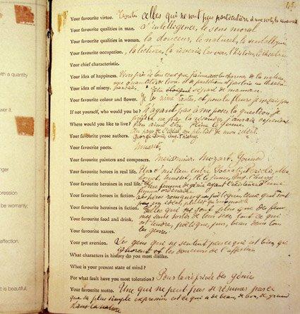 Berühmt Marcel Proust Fills Out a Questionnaire in 1890: The Manuscript of  QM81