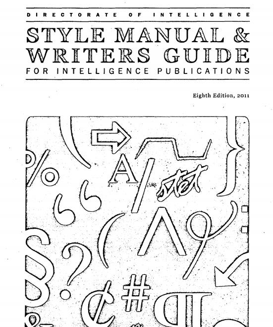 cia style guide
