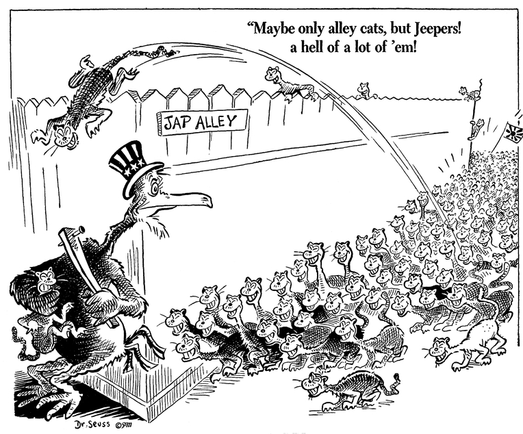 Dr. Seuss Draws Anti-Japanese Cartoons During WWII, Then Atones with Horton Hears a Who! | Open Culture