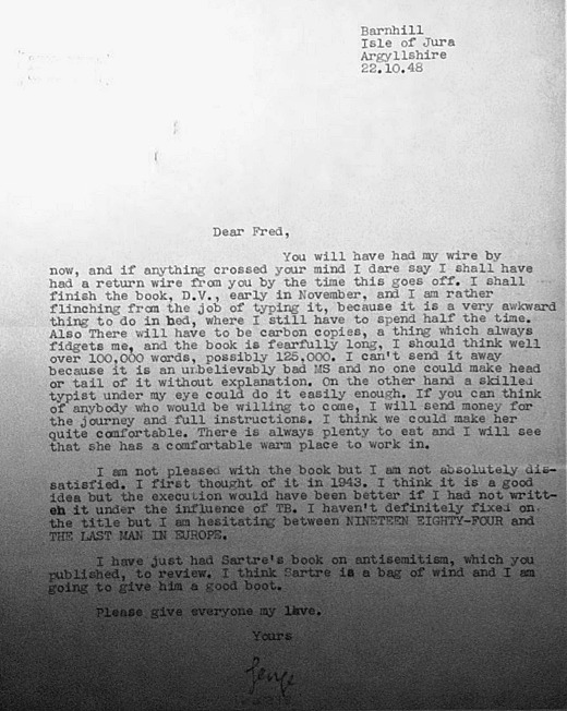 orwell letter