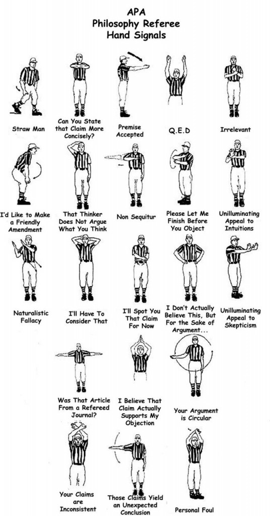 Philosophy Referee Hand Signals Open Culture