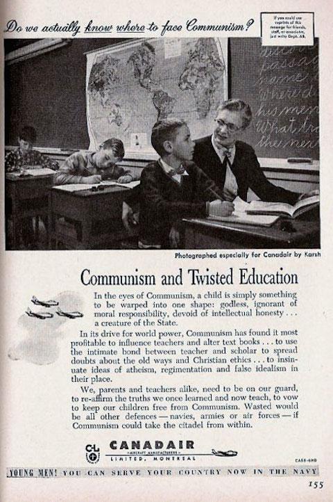 Phrase anti communist propaganda cold war absurd