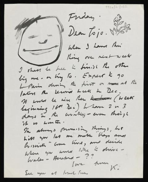Letter from Kenneth Armitage to Joan Moore [1951] by Kenneth Armitage 1916-2002
