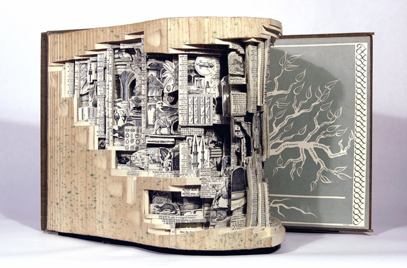 books artist dettmer brian sculptures sculpture artwork carved carving using open artists sculptural pages altered intricate into way gives