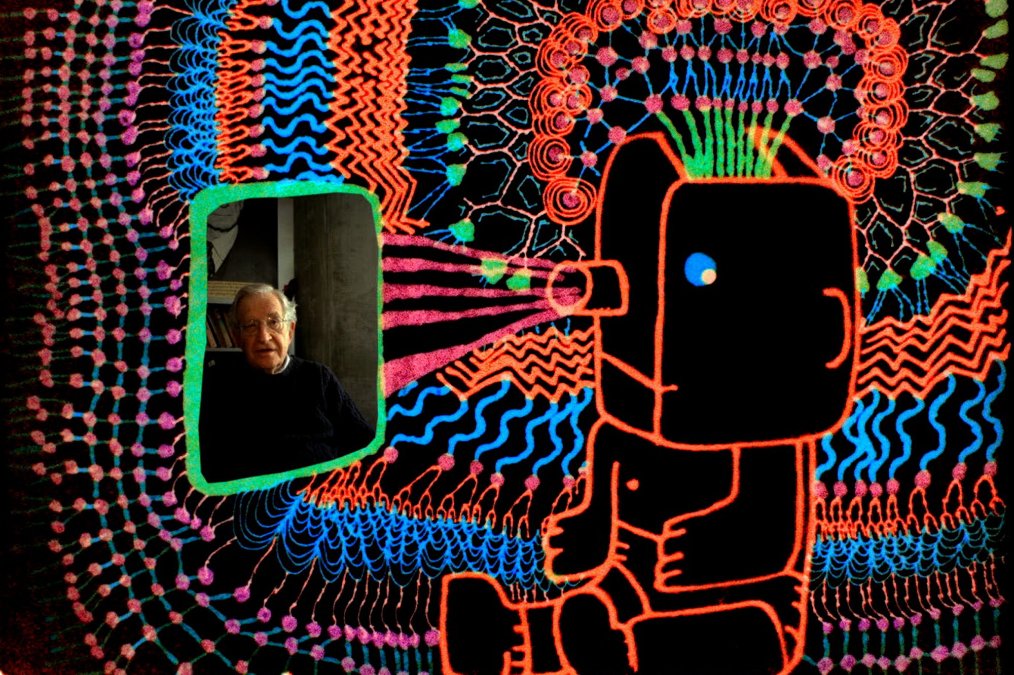 Noam Chomsky Talks About How Kids Acquire Language and Ideas in an Animated Video by Michel Gondry