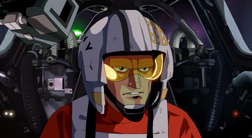 watch a new star wars animation drawn in a classic 80s japanese