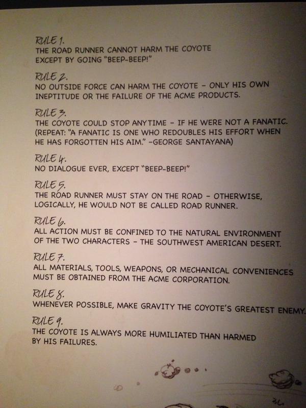 Road Runner Rules