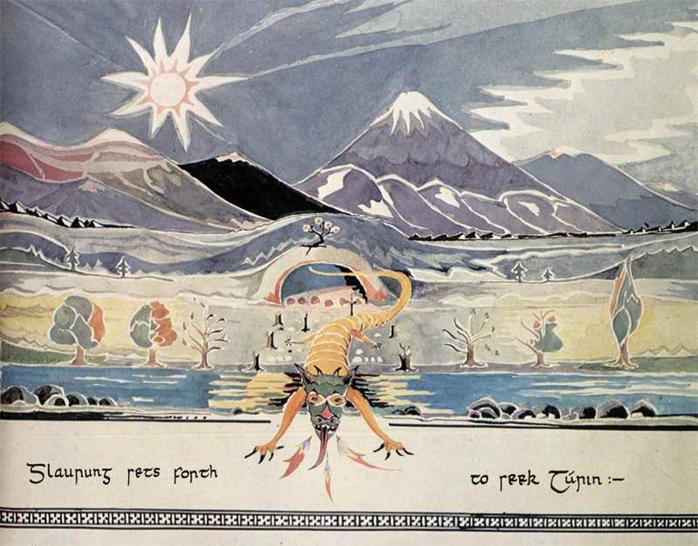 768px-J.R.R._Tolkien_-_Glaurung_sets_forth_to_seek_Turin