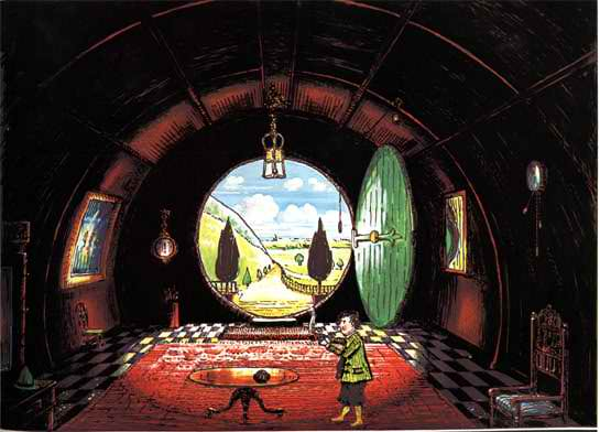 J.R.R._Tolkien_-_The_Hall_at_Bag-End,_Residence_of_B._Baggins_Esquire_(Colored_by_H.E._Riddett)