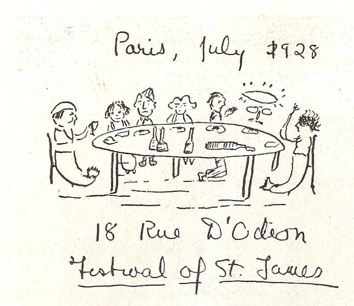 F Scott Fitzgerald Has a Strange Dinner with James Joyce & Draws