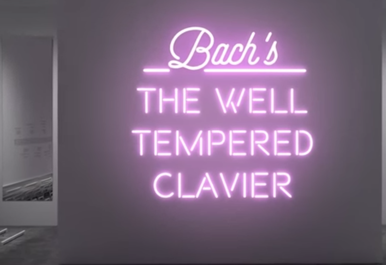 JS Bach's The Well-Tempered Clavier Artistically Animated with Pulsing Neon Lights
