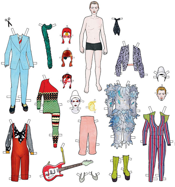 David Bowie Paper Dolls Recreate Some of the Style Icon's