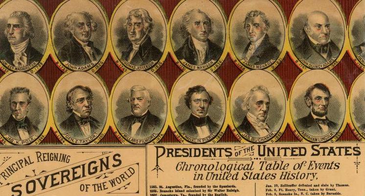 presidents map