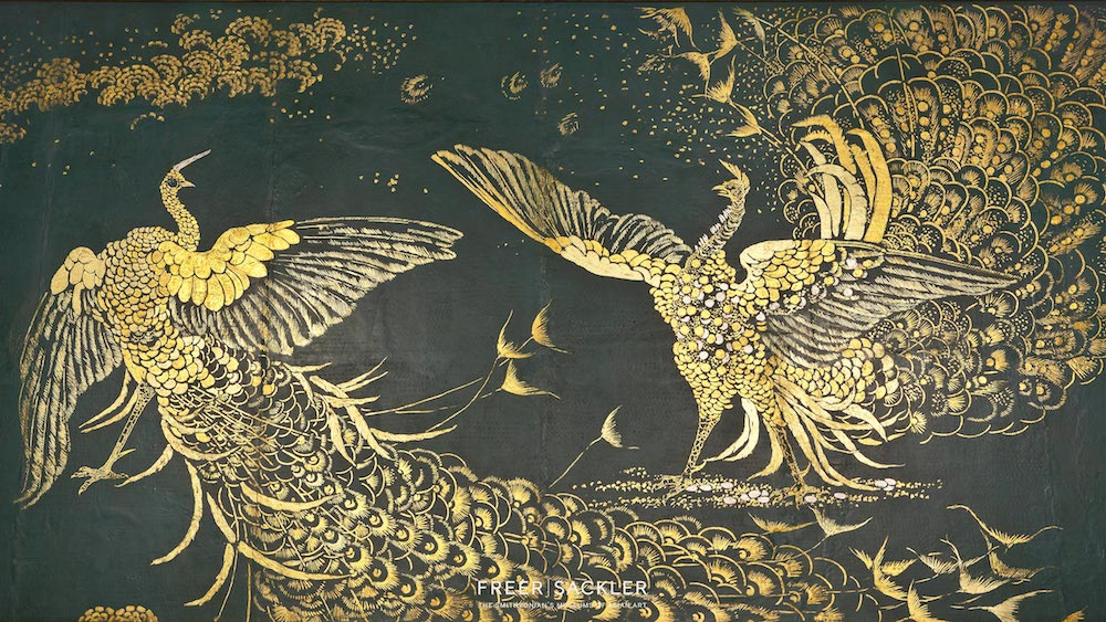 Chinese Art Gold Leaf Painting