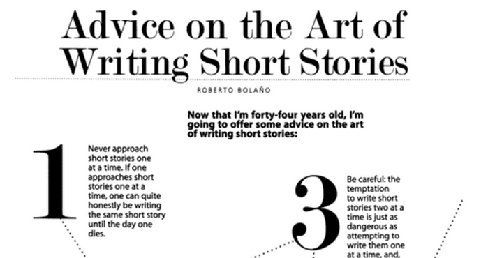 "Roberto Bolaño's 12 Tips on ""the Art of Writing Short Stories"""