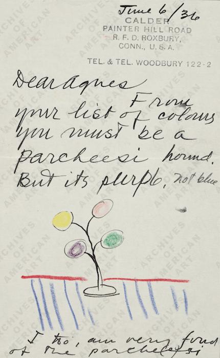 calder illustrated letter