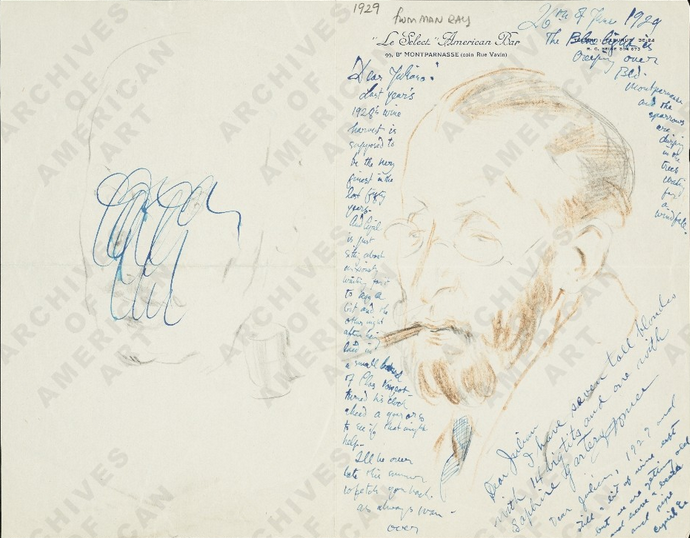 man ray illustrated letter
