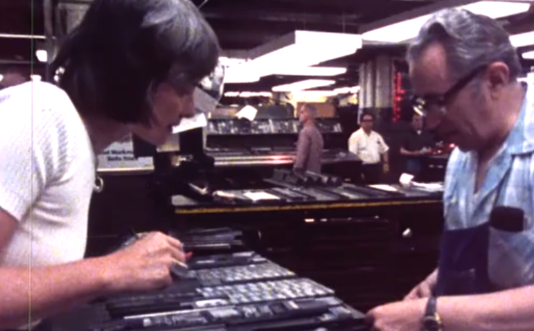 The End of an Era: A Short Film About The Last Day of Hot Metal Typesetting at The New York Times (1978) thumbnail