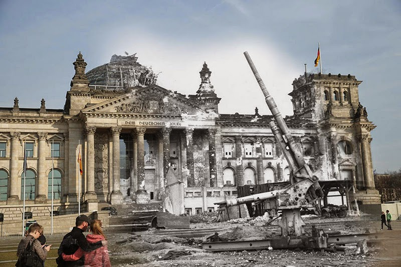 See Berlin Before And After World War II In Startling Color Video - Before and after world