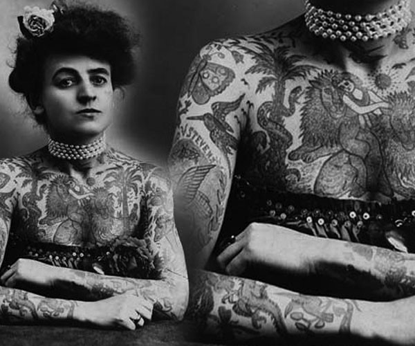 Meet America & Britain's First Female Tattoo Artists: Maud Wagner (1877-1961) & Jessie Knight (1904–1994)