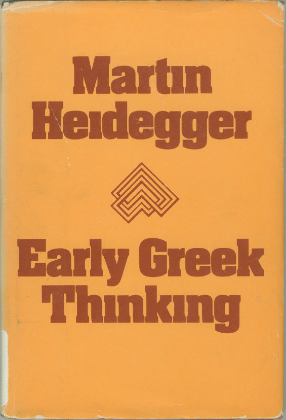 Heidegger Early Greek