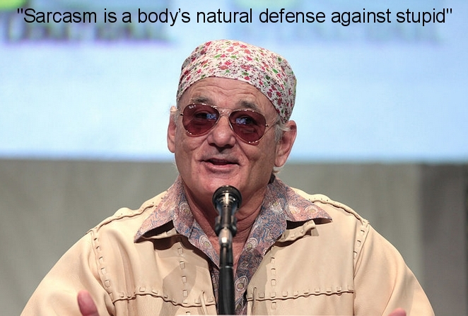 bill murray sarcasm