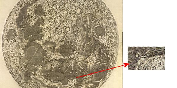 The First Scientific Map of the Moon (1679) | Open Culture