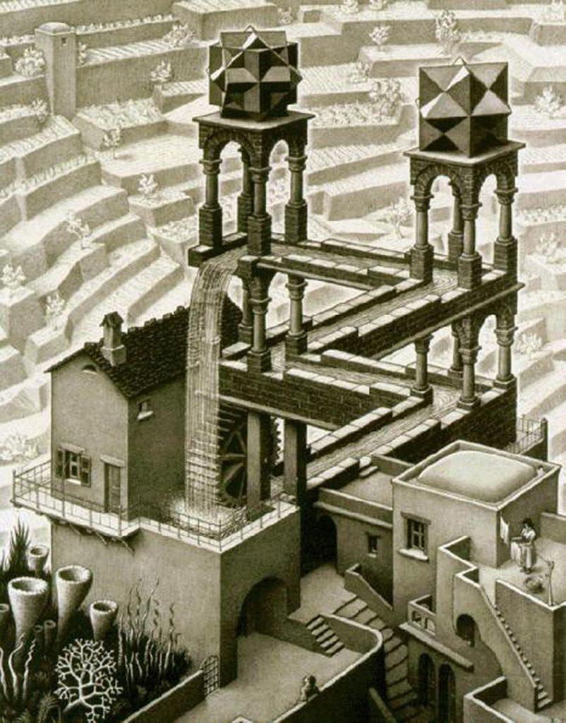 Escher, Waterfall 1961