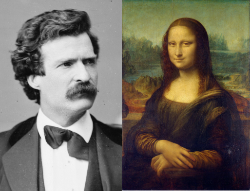 """Mark Twain Skewers Great Works of Art: The Mona Lisa (""""a Smoked Haddock!""""), The Last Supper (""""a Mournful Wreck"""") & More"""