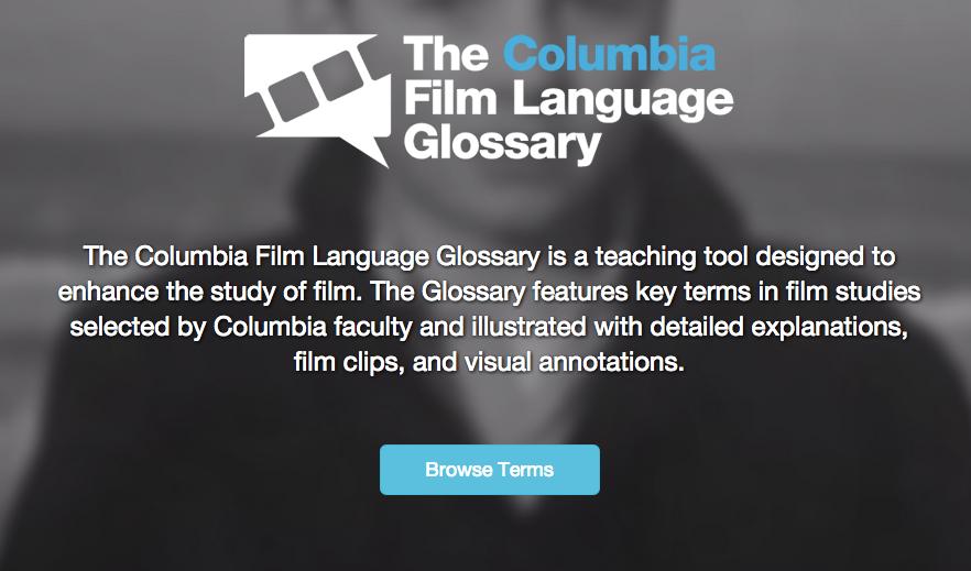 Columbia Film Language Glossary