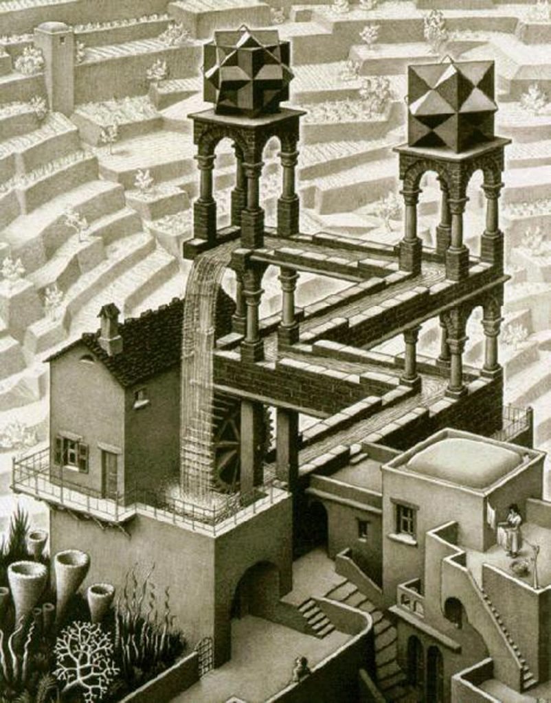 Escher, Waterfall 1961