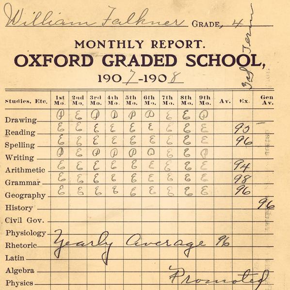 faulkner report card