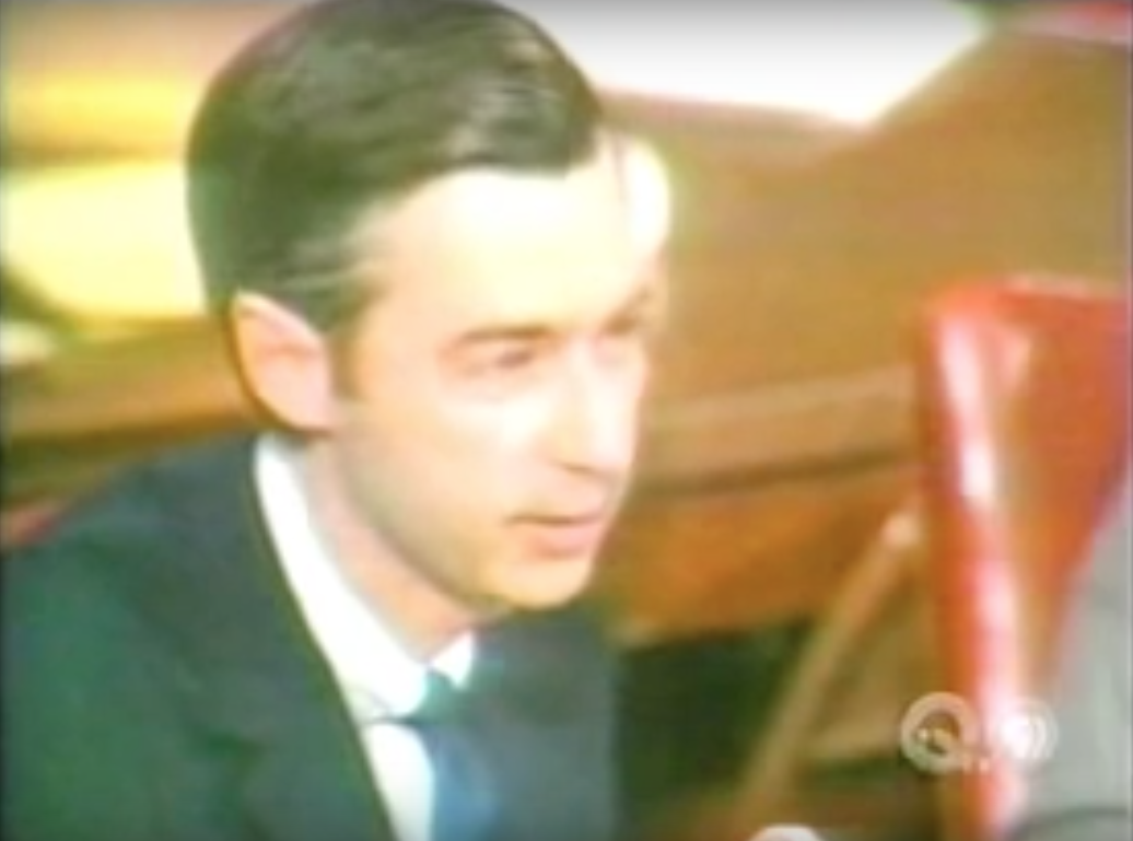 Mr Rogers Goes To Congress And Saves Pbs Heartwarming Video From 1969 Open Culture