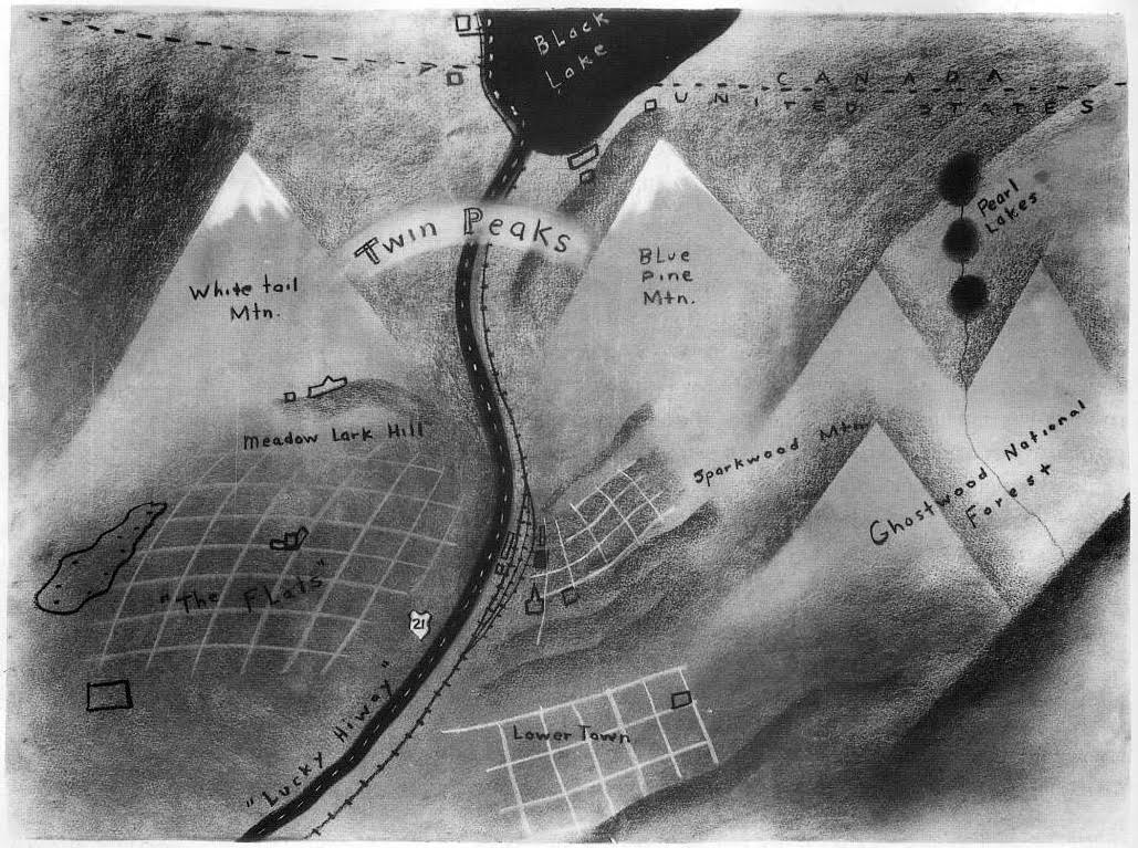 David Lynch Draws a Map of Twin Peaks (to Help Pitch the Show to