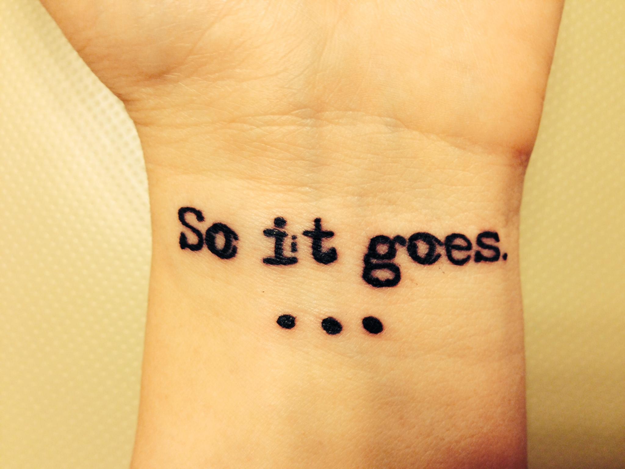 Vonnegut Tattoos 1
